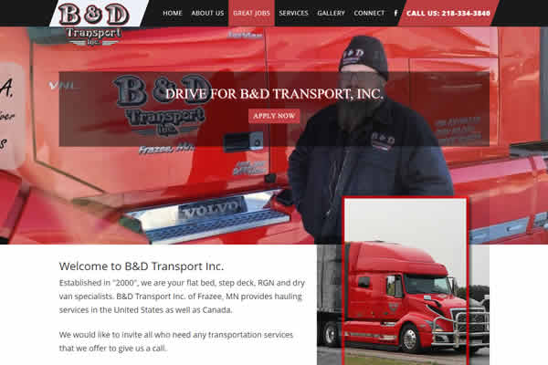 We can build a website for your transportation company.
