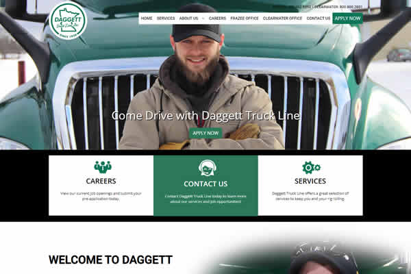 We build websites for transportation companies.