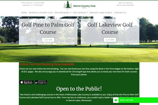 Golf course websites.