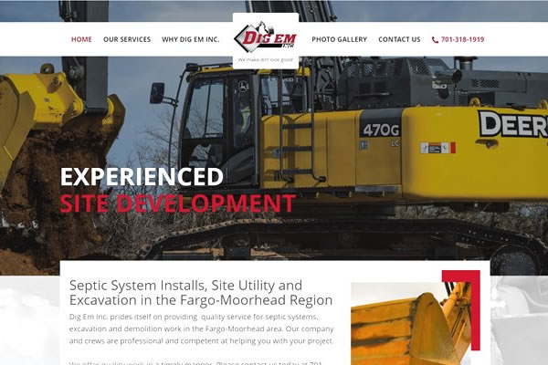Websites for your excavation business.