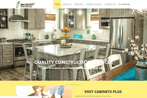Show off your building creations with a construction website from Simple Website Creations.