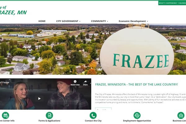 Websites for cities and organizations