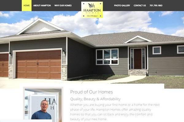 Home builder websites.