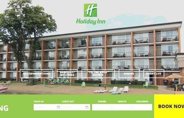 Websites for hotels, motels, and resorts.