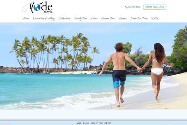 Websites for travel agencies.