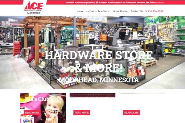 Retail store websites