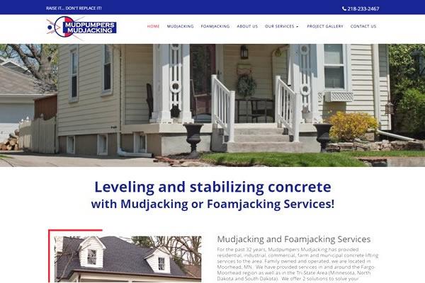 Mudjacking and construction company websites.