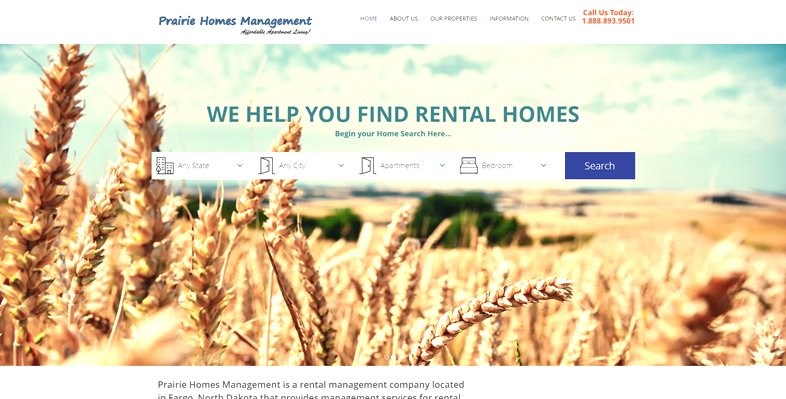 Websites for apartments and condos.