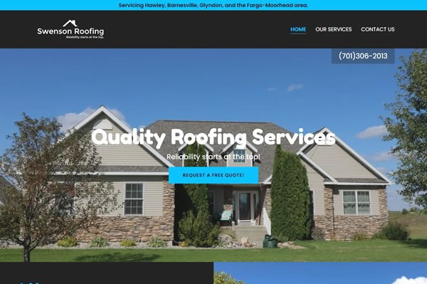 Websites for roofing companies.
