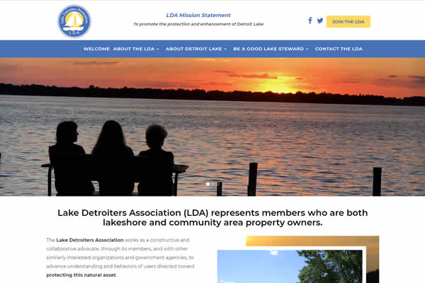 Websites for associations and cities.