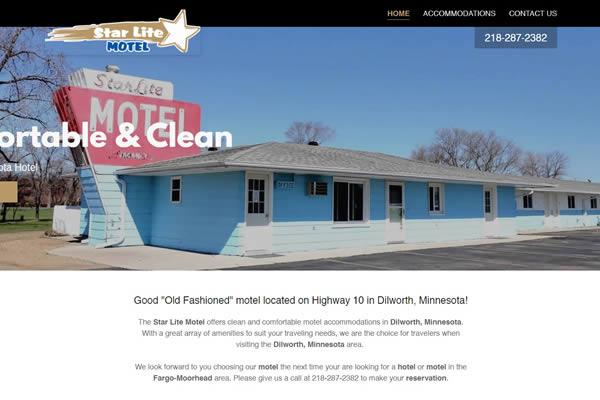 Star Lite Motel of Dilworth, Minnesota website