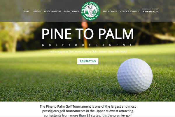 Pine to Palm Golf Tournament Website