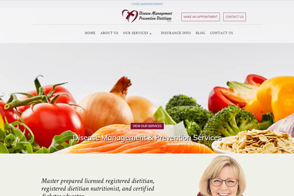 Disease Management and Prevention Services website built by Simple Website Creations