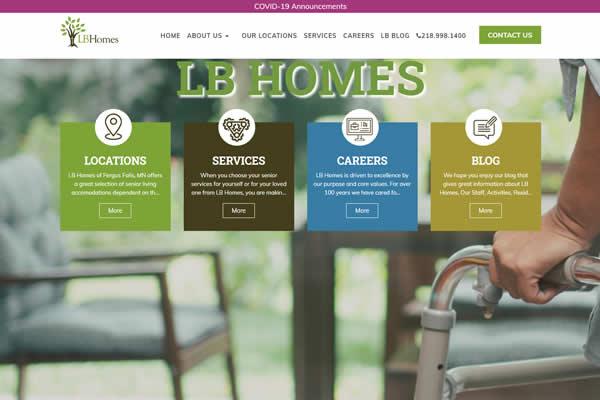 Senior Living Facility websites