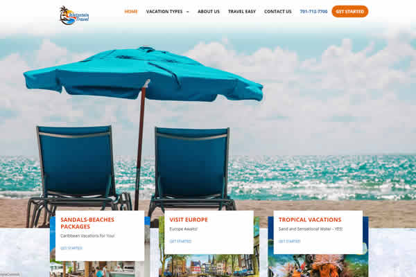 Travel Websites built by Simple Website Creations.